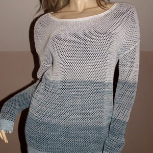 VINCE BLUE COTTON RELAXED SWEATER SZ XS
